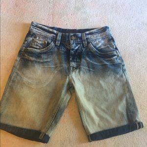 Zara Man denim roll cuff shorts